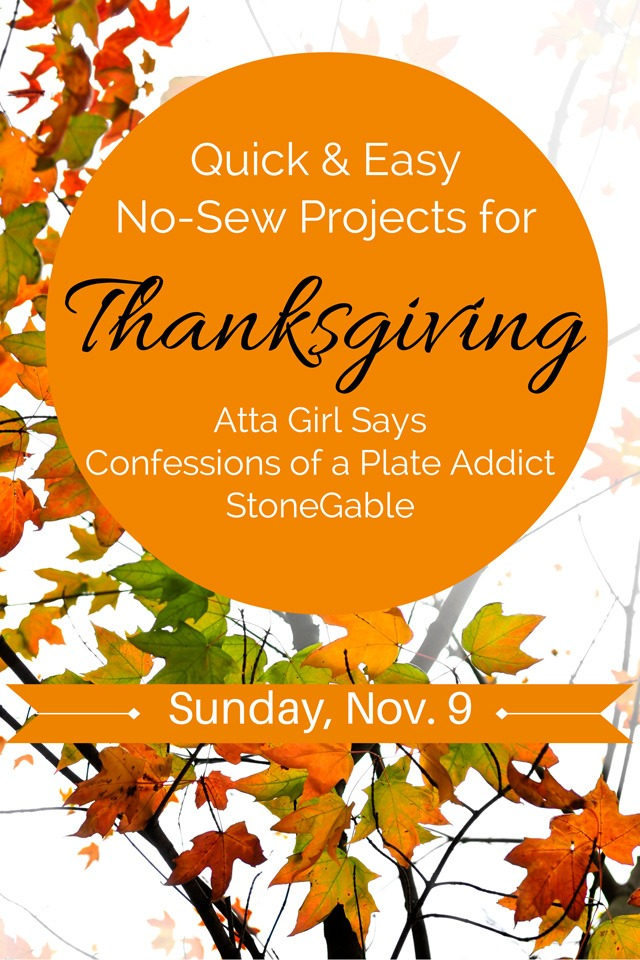 Thanksgiving No-Sew Projects
