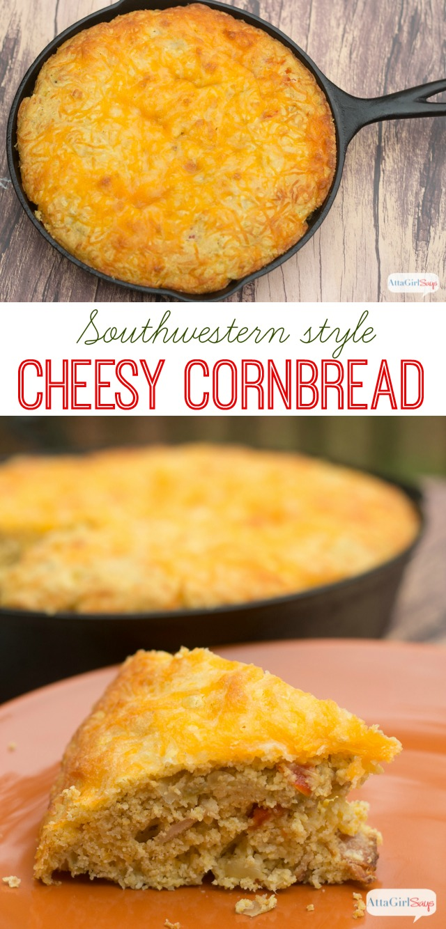 Cheesy Green Chile Cornbread Recipe