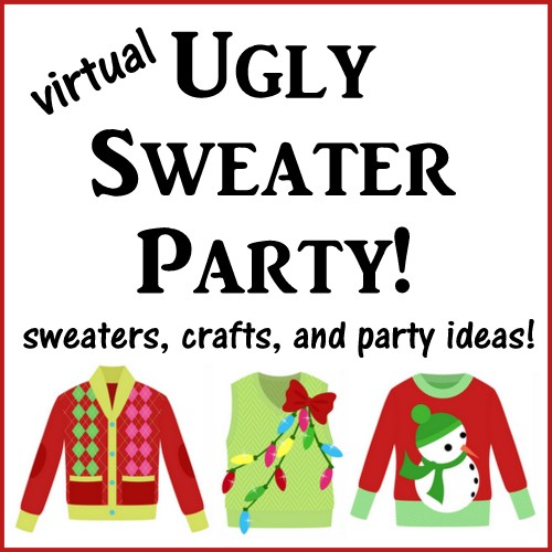 What a fun family craft!! Use cardstock, ribbon, craft punches, washi tape, pipe cleaners and other craft supplies to make these cute Ugly Christmas Sweater gift tags. A great family craft or activity for your ugly Christmas sweater party. Kids and adults alike will have a blast designing their ugly sweaters. Get the free sweater pattern by clicking here.