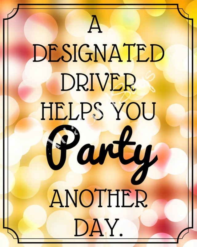 New Years Eve Party Printable for Designated Drivers