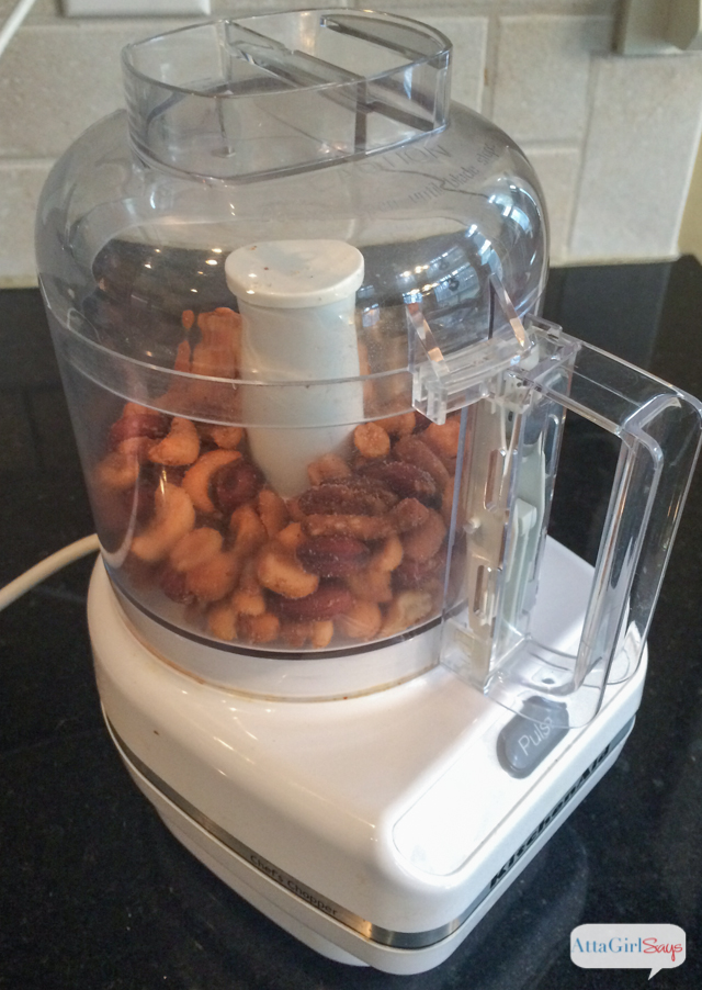 nuts in a food processor