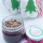 jar of salted caramel chocolate sauce