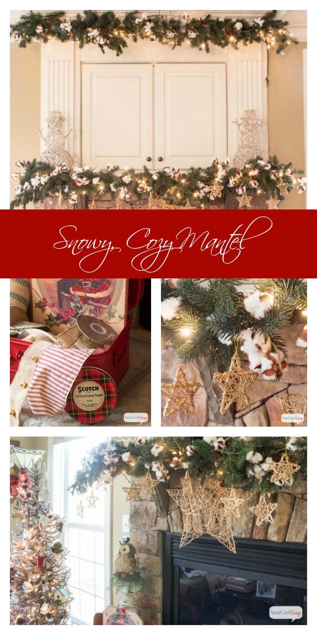 Snow Cozy Christmas Mantel Decor