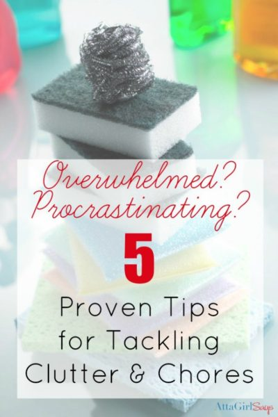 5 Proven Tips for Tackling Clutter & Chores when you're feeling overwhelmed