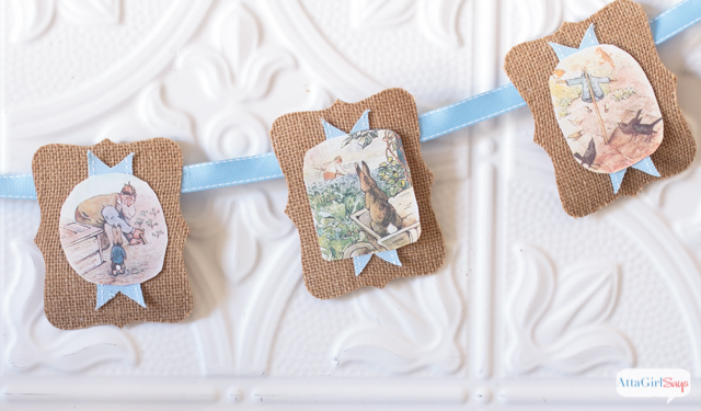Peter Rabbit Inspired Easter Party banner