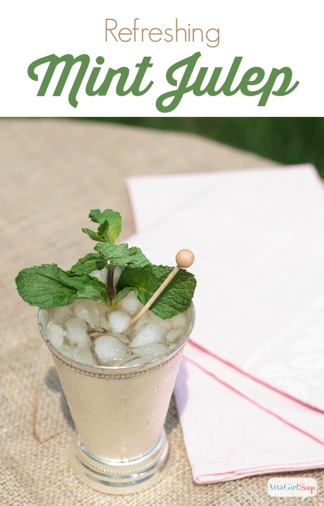Planning a Kentucky Derby party? You must try this refreshing mint julep recipe, served in a frosty silver julep cup.