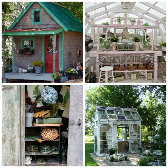 collage showing different backyard retreats