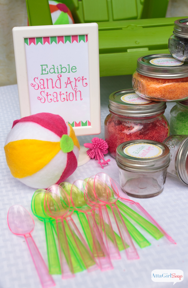 "Kids will love making edible sand art creations. Mix up a batch of colorful, edible ""sand"" using sugar and your favorite Kool-Aid flavors. The sweet and sour flavor will remind you of your favorite candy."