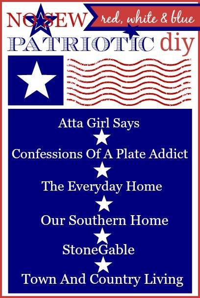 6 Patriotic No-Sew Projects for Your Home - Perfect for Flag Day, July 4th and Memorial Day