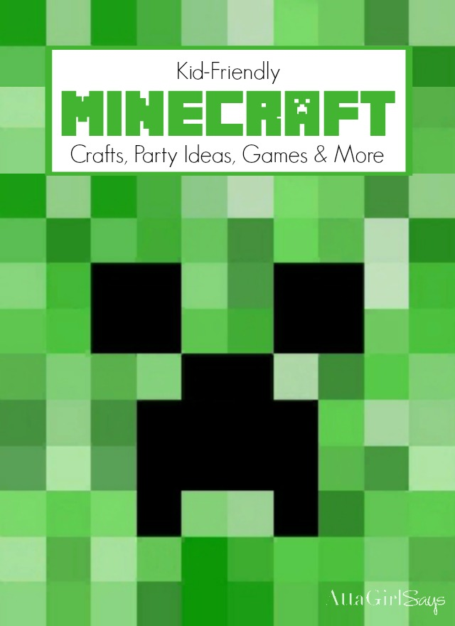 If your kids are into Minecraft, you have to visit this site. You'll find lots of kid-friendly Minecraft party ideas, crafts, recipes, Minecraft party games and more. She shares a new Minecraft project every month. #sponsored #MyGameband