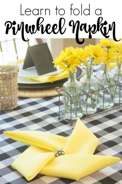 How to Fold Napkins Into a Pinwheel