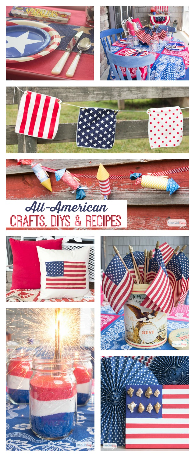Looking for a handmade or homemade way to show your patriotism. Check out these 4th of July Ideas. You'll find crafts, recipes, DIY projects, decorating and party ideas.