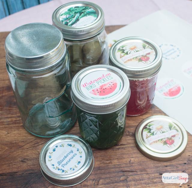 homemade preserves with vintage printable jar lid labels