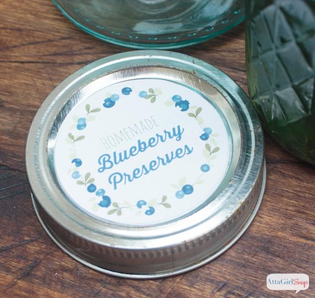 blueberry preserves jar lid free printable label