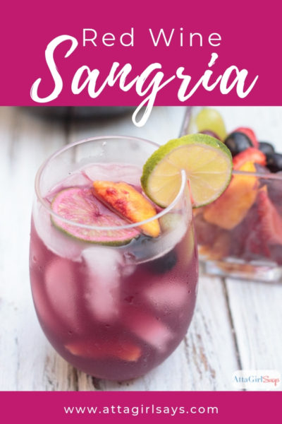 red wine sangria with fruit