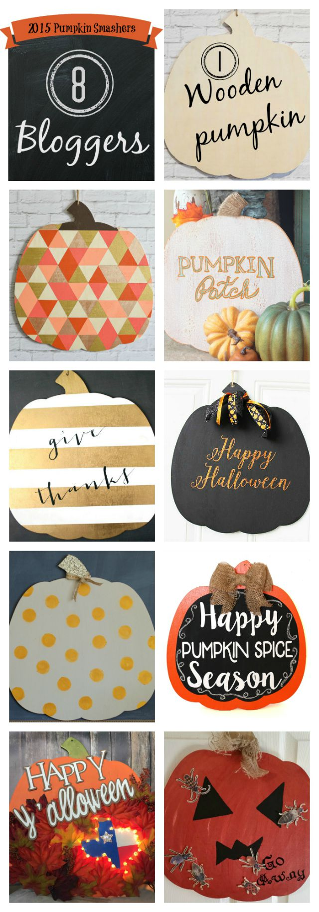 1 Wooden Pumpkin, 8 Different Ideas
