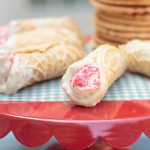 strawberry creme baked cannoli