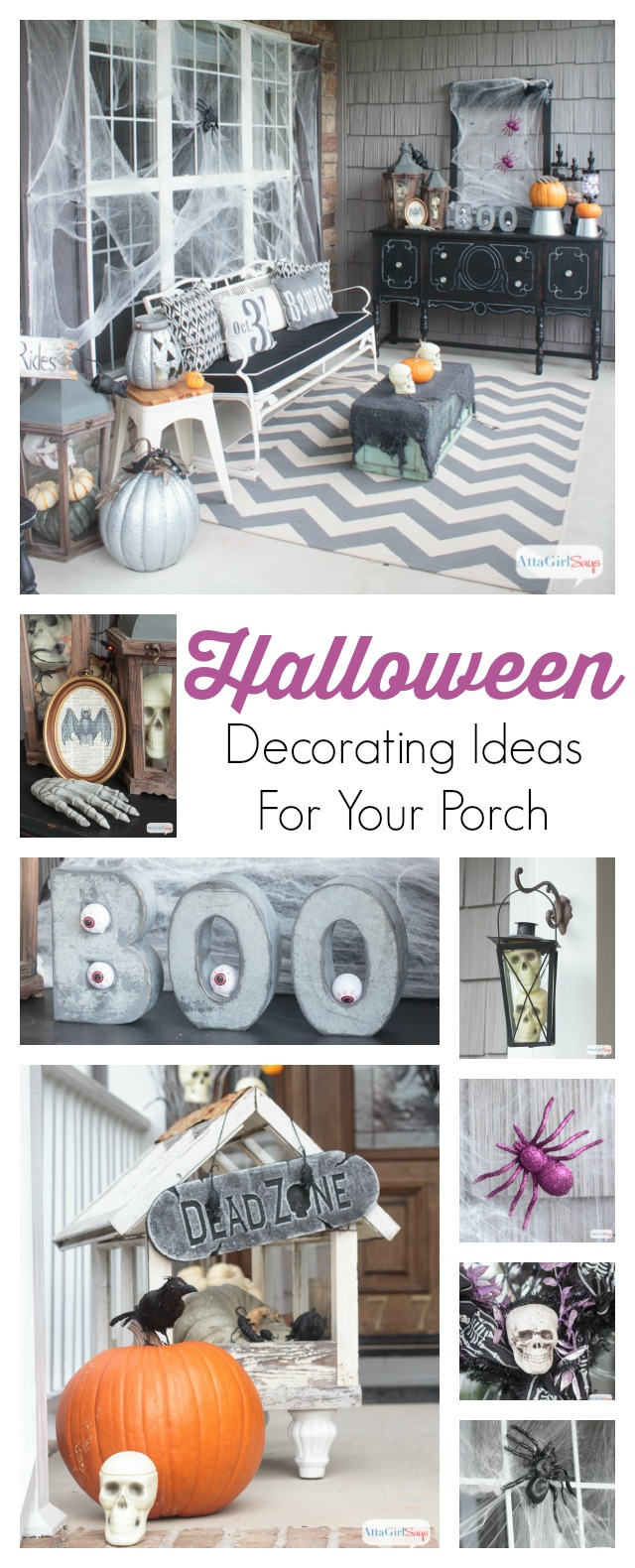 You'll love these scary Halloween decorations. They're spooky with but not gory, so they shouldn't scare away young trick or treaters. You'll find a lot of what you need to create this gothic horror novel vibe at the dollar store!
