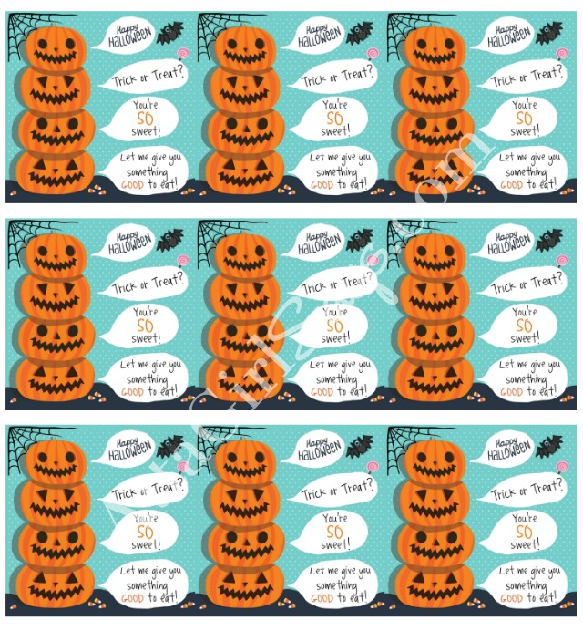 Printable Halloween Treat Labels from AttaGirlSays.com