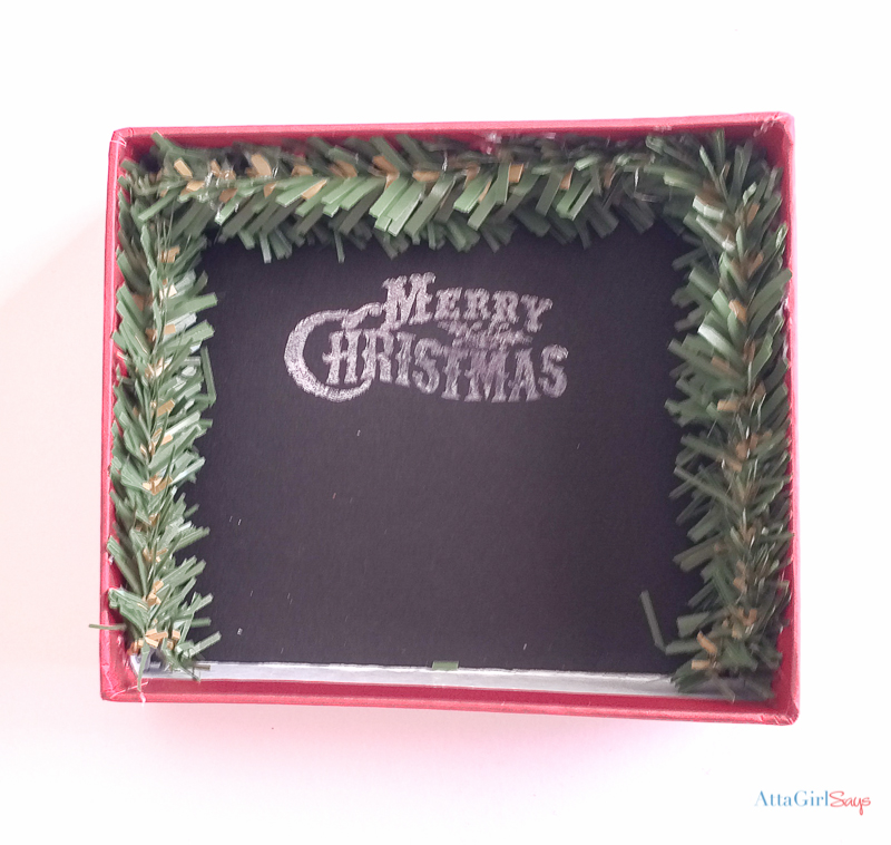 Grab some old jewelry boxes and some miniatures from the dollar store and make some of these adorable DIY Christmas ornaments. This Christmas ornament craft would be fun to do with a group of friends or with the family. Pottery Barn sells ornaments like these for $16.50 each, but you can make your own for about $1!