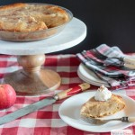 applesauce pie in a farmhouse setting