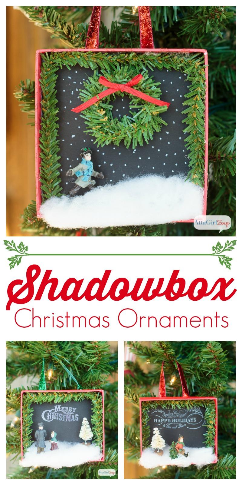 Shadowbox Diy Christmas Ornaments Atta Girl Says