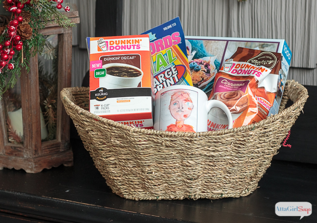 Who doesn't love a lazy, do-nothing day at home? This Christmas, treat a special friend or family member with these coffee gift baskets that are designed for a relaxing day at home. Fill them with coffee, snacks, games, magazines, puzzles and other things the recipient enjoys. #ad