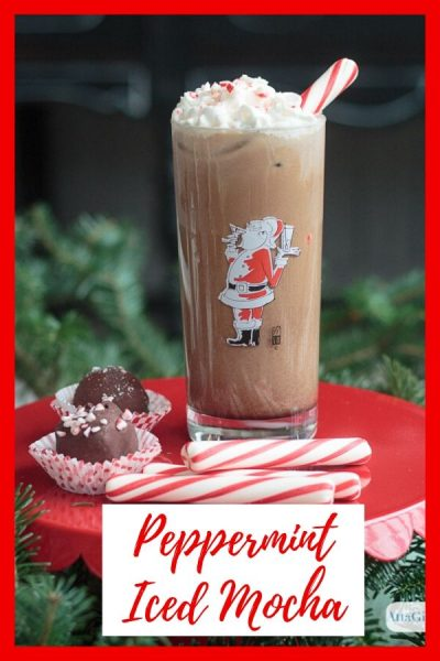 Don't pour out that pot of lukewarm coffee. Save it and try this deliciously simple iced pepermint mocha recipe. It's the perfect latte for the holidays. #ad #ShareYourDelight #indeligh