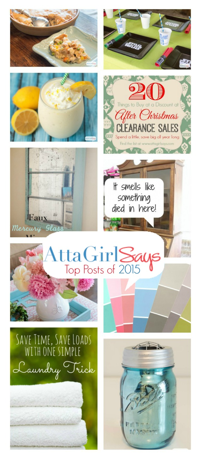The most popular household tips, crafts, recipes and projects on Atta Girl Says in 2015.