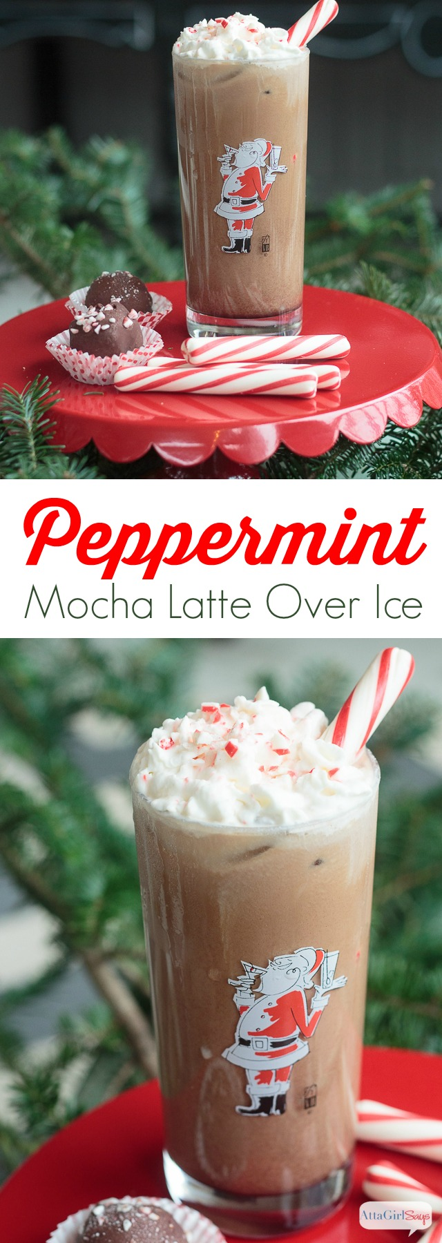 Don't pour out that pot of lukewarm coffee. Save it and try this deliciously simple iced peppermint mocha recipe. It's the perfect latte for the holidays. #ad #ShareYourDelight #indelight