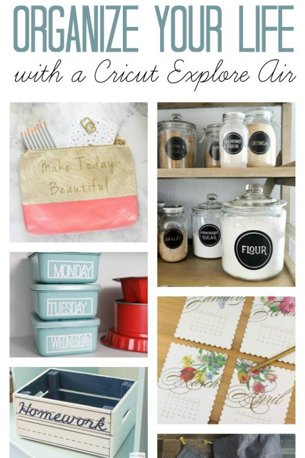 featured home organization ideas with cricut