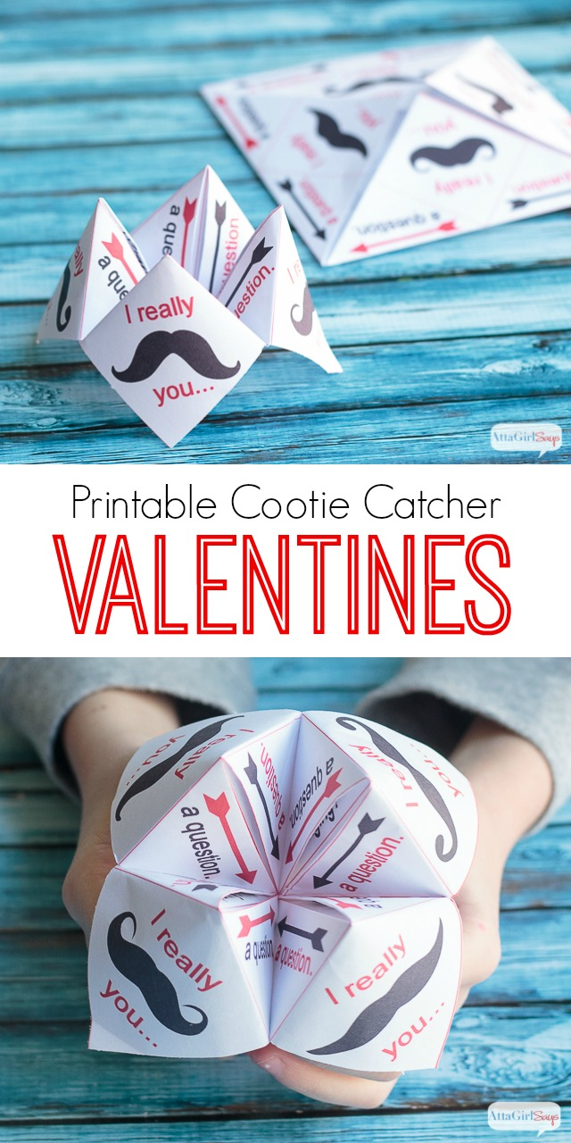 A printable paper fortune teller is a fun and creative way to show that special someone how you feel on Valentine's Day.