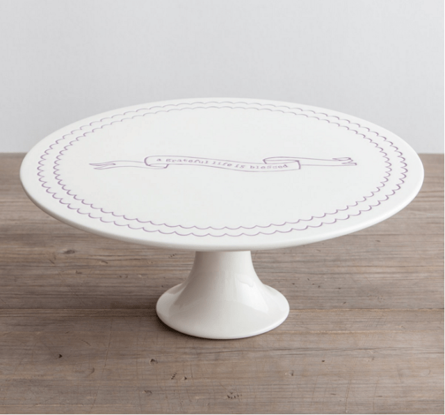 Wise words on this cake stand! Click for decorating and serving ideas using cake stands, plus information on where to purchase this cake stand and dozens of others like it.