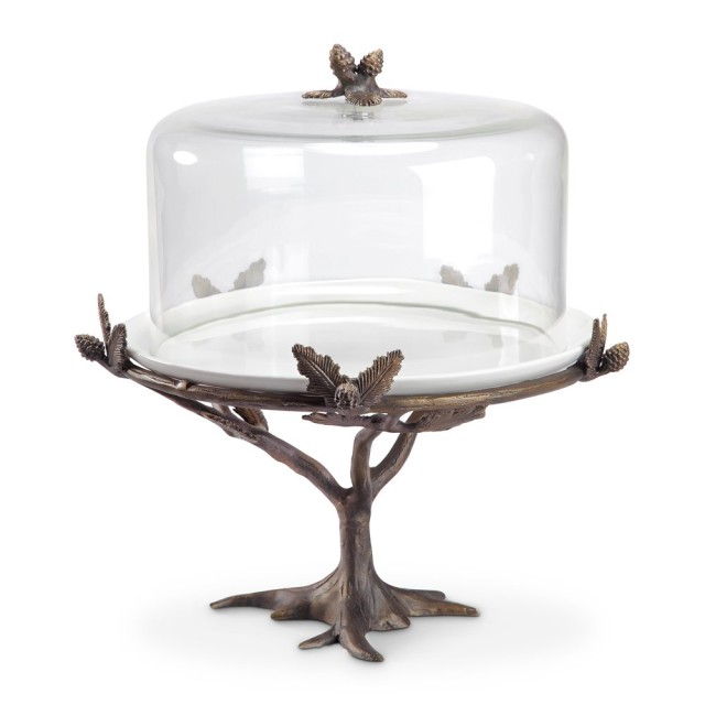 I'm a sucker for a cake stand with a cloche. This twig cake stand would be great for fall and for outdoor parties. Click for decorating and serving ideas using cake stands, plus information on where to purchase this cake stand and dozens of others like it.