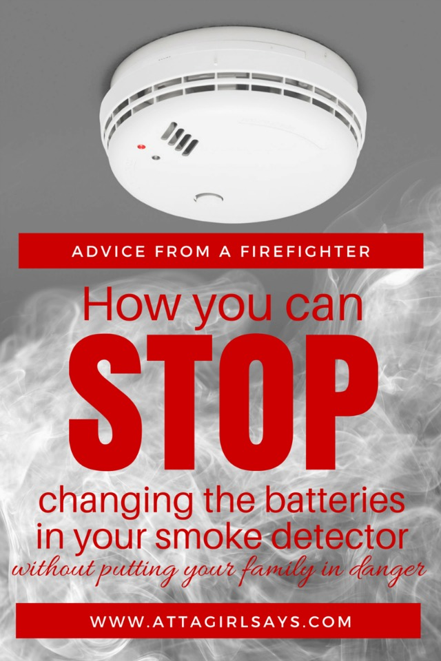 A working smoke detector cuts your risk of dying in a house fire in half. And most homeowners have been told you should change a smoke detector battery twice a year when you change the clocks for Daylight Saving Time. But what if I told you that you didn't have to change a smoke detector battery ever again? I didn't believe it either, until a firefighter told me how I can skip changing out the batteries while still keeping my family safe.