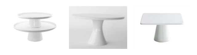 These basic white cake stands are great for serving, parties and for decorating. Learn where to buy them, plus see more of pretty cake stands at AttaGirlSays.com.