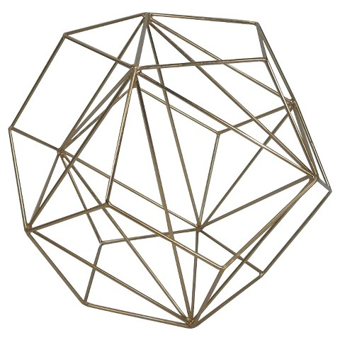 Learn how I turned this decorative brass figurine from Target into a chic geometric globe pendant light for less than $40. Pottery Barn Kids sells a similar light fixture for $300.