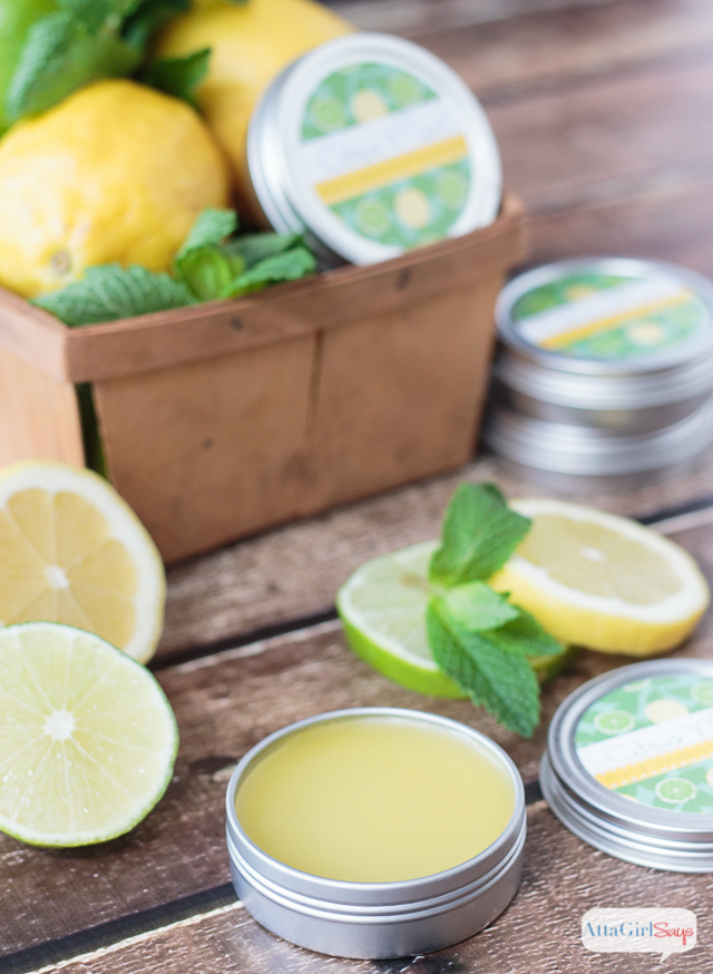 This homemade hand salve makes a great gift for men and women. It has a refreshing citrus-mint fragrance, and it's so moisturizing for dry skin. Get the recipe, step-by-step instructions and printable labels here.