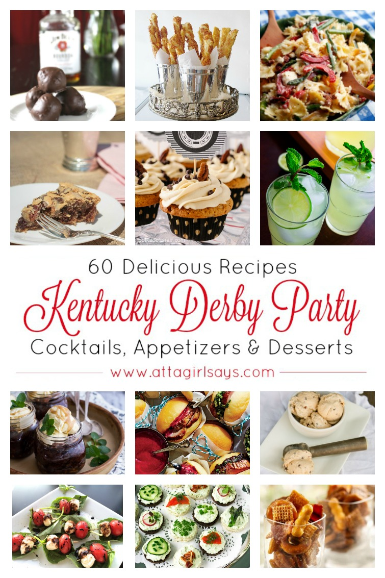 kentucky derby party ideas, recipes, menu and drinks
