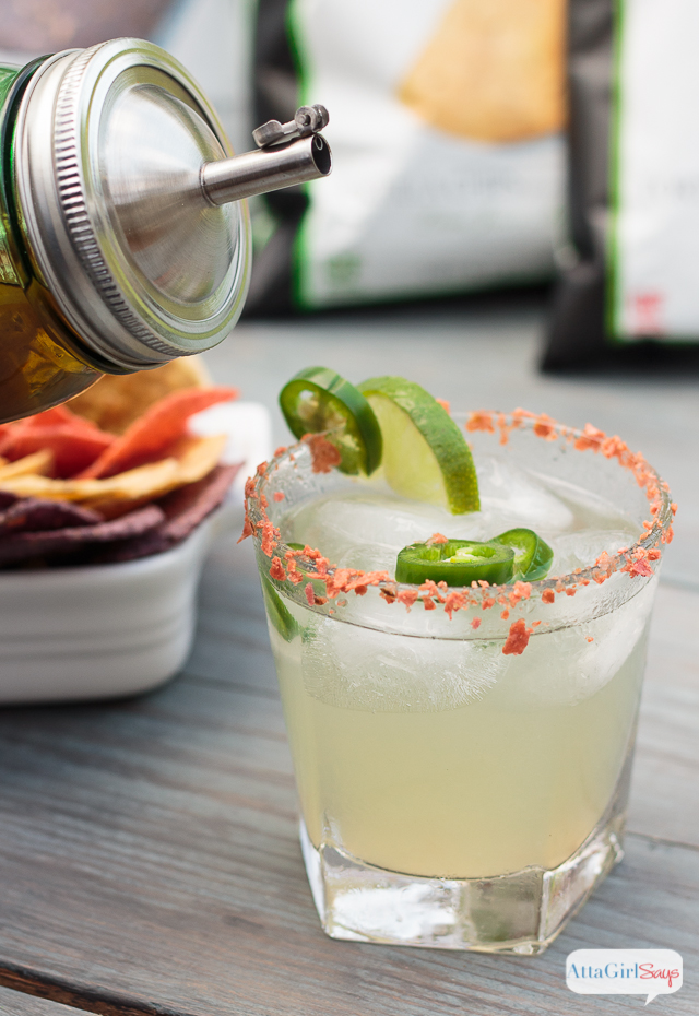 This fiery homemade limeade with jalapeno-infused bourbon.