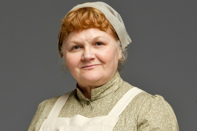 Lesley Nicol as Mrs. Patmore on Downton Abbey
