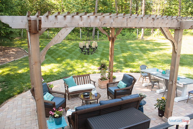 See how we transformed our boring back yard with the addition of a paver patio and cedar pergola. If you're looking for inspiration and patio decorating ideas, you'll find lots here. We've managed to create a relaxing and inviting outdoor room that we can enjoy throughout the spring, summer and fall.