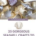 bowl of regular and gilded seashells