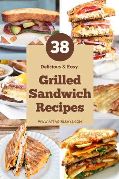 collage of grilled sandwich recipes