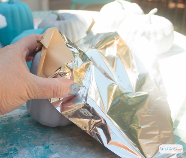 I'm definitely trying these pumpkin decorating ideas. I love the idea of using metallic foil and paint.