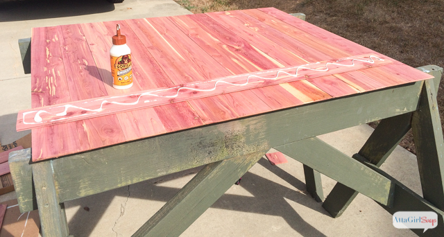Learn how to make your own farmhouse style DIY fireplace screen using tongue-and-groove cedar paneling. Click for step-by-step instructions for this easy carpentry project. #sponsored