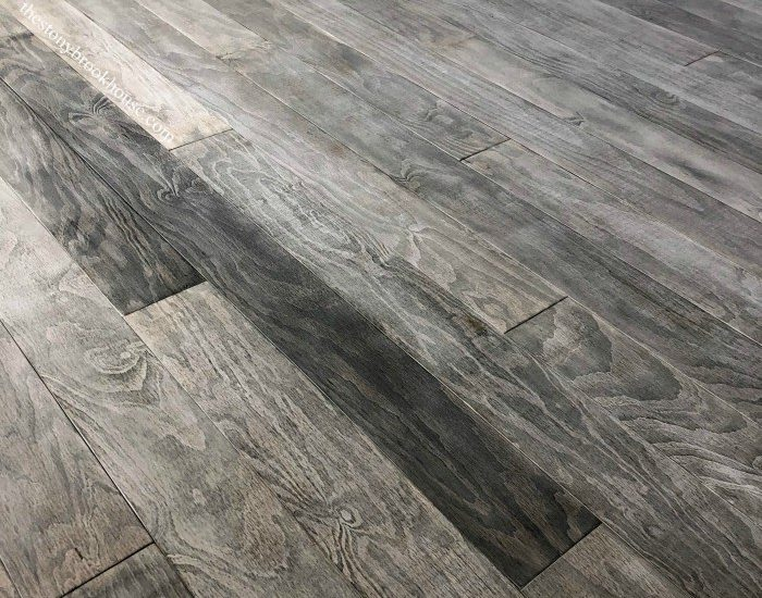weathered gray wood plywood plank floors