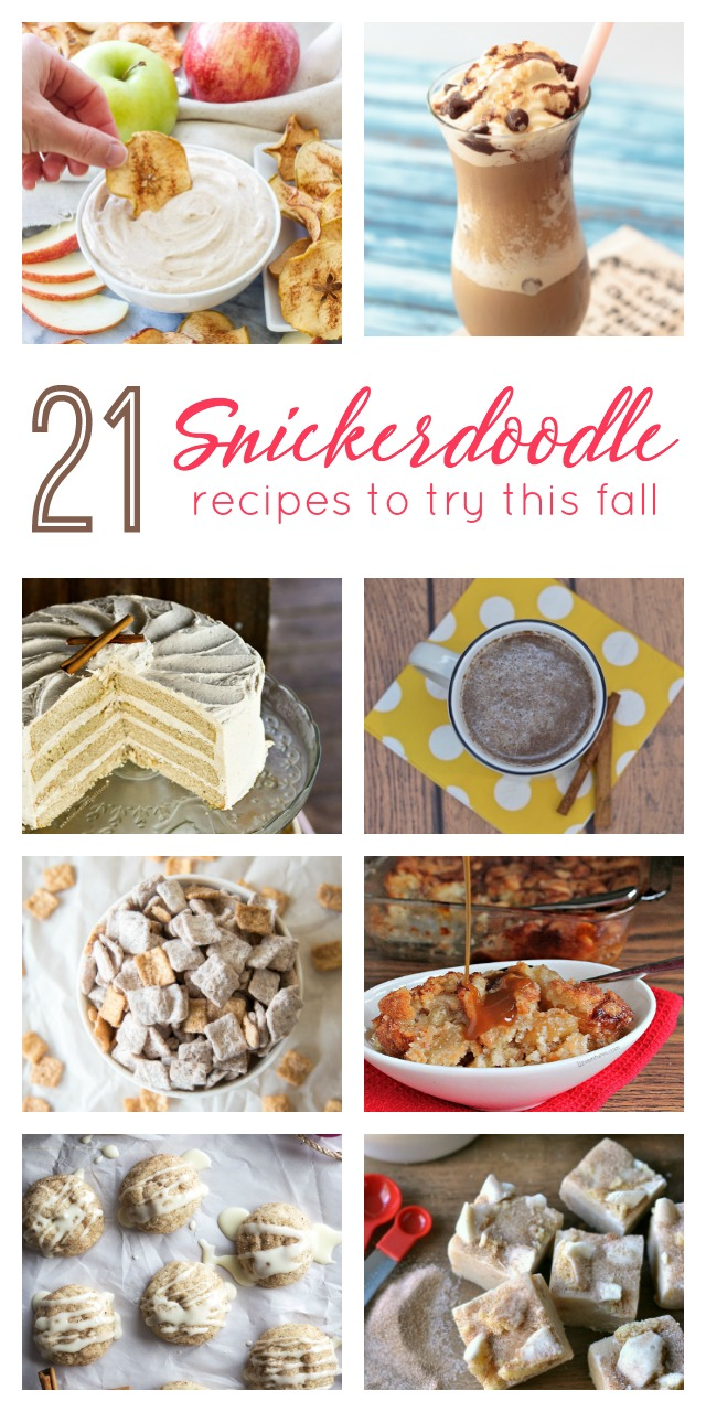 Forget all that pumpkin spice and caramel apple nonsense. Cinnamon and sugar is the hot flavor combo for fall. Snickerdoodle cookies are great. But you have to try these 21 amazing snickerdoodle recipes for everything from muffins to martinis. Which is your favorite snickerdoodle recipe?