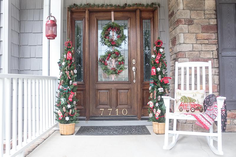 Lodge Inspired Christmas Door Decorations