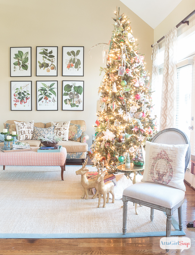 Christmas tree in a formal living room